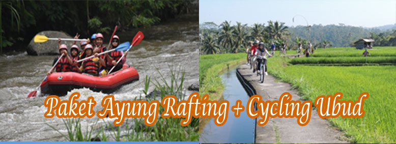 Paket Ayung Rating + Cycling di Ubud@baliraftingmurah.com